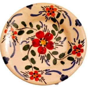 Vintage Hand Painted Mexican saucer